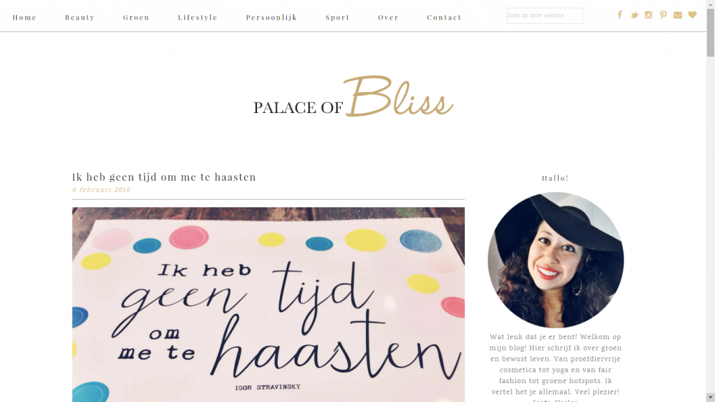 Palace of Bliss heeft een nieuwe lay-out!