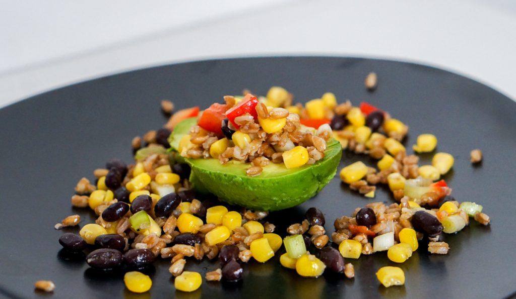 Vegan recept   Gevulde Advocado
