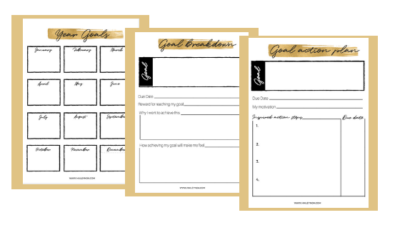 Free Goal planner by HaileyNoa.com