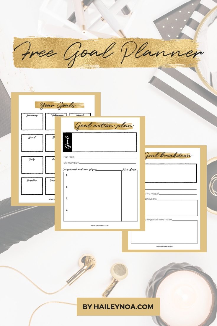 Download your Free Goal Planner by HaileyNoa.com.