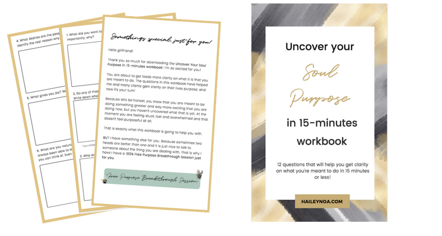 Uncover your soul purpose in 15 minutes workbook - Feel like you're falling behind in life? 5 tips that will help